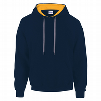 CHOOSE DESIGN - NAVY BLUE WITH GOLD INNER HOOD